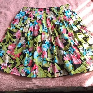 NWT Talbots Floral A-Line Skirt